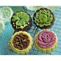 Cetakan kue bulan 50gr mooncake moon cake 50gram press Flower 50 gram
