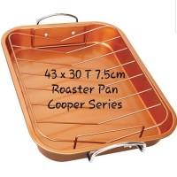 Roasting pan wajan panci panggangan ayam daging copper grill loyang