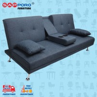 Sofa Bed SAPPORO HAMILTON - Blue Fabric