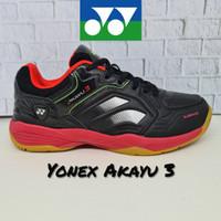 Sepatu Badminton YONEX AKAYU 3 (Original) - Black Red, 40