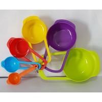 Plastic Measuring Spoon 6pcs 1179 A-13 (Tem-A20) / Sendok Ukur Plastik