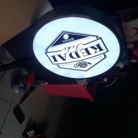 neon box bulat murah + breket