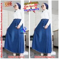 Rok Plisket Jeans Rawis Wanita Premium Model A