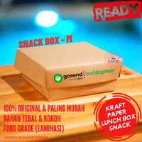 Paper Lunch Box Burger / Snack Box Size M 12cmx12cmx5cm / Lunch Box