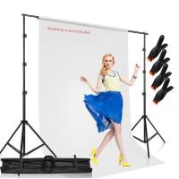 Bracket Stand untuk Backdrop Foto Studio Tiang Penyanga Background 3M