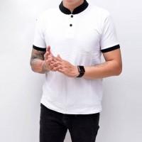 Kaos Polo Pria Polo Shirt Kerah Shanghai Polos Putih JUMBO BIG SIZE