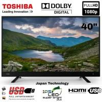 TERMURAH LED TOSHIBA DIGITAL TV 40 INCH 40L3750 FULL HD CEVO ENGINE