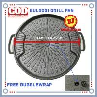 Bulgogi Pan 32 cm Tutup Kaca / Alat Panggangan BBQ / Korean Grill