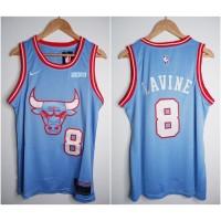 JERSEY BASKET NBA BULLS #8 ZACH LAVINE CITY EDITION BIRU 19/20