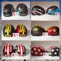 Helm sepeda batok fixie mtb roadbike balap BMX rafting motif fit L NEW