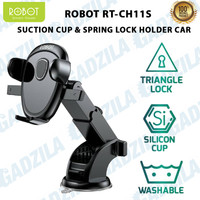 ROBOT CAR MOUNT HOLDER HP MOBIL SUCTION CUP DASHBOARD KACA 360 ROTATE
