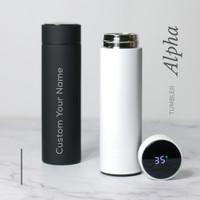Grafir Nama | Alpha Smart Tumbler LED Suhu Custom Tumbler Botol Minum
