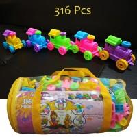 Mainan Edukasi Blocks 316 PCS - Bricks Balok Susun Lego