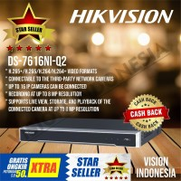 NEW HIKVISION NVR 16CH / 16 CHANNEL DS-7616NI-Q2 support H.265