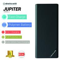 Delcell JUPITER Powerbank 10000mAh Real + Free Masker