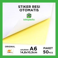 A6 [TULIS/PRINT]KERTAS STIKER STICKER HVS DOVE DOFT PUTIH POLOS LINTEC