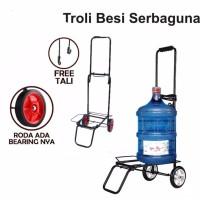 Troley troli lipat bawa aqua galon dan gas trolley barang serbaguna