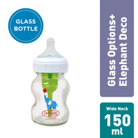 Dr. Brown's 5oz/150ml Glass Wide-Neck Options+ with Elephant Deco