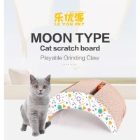 Garukan Kucing BULAN BESAR FREE CATNIP Scratching Pad Papan Cakaran