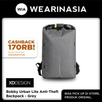 Ransel Rolltop Anti Maling Original XD Design Bobby Urban Lite Grey