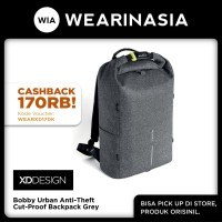 Ransel Rolltop Anti Maling & Cut Proof Ori XD Design Bobby Urban Grey