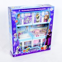 Mainan Anak Frozen Modern Kitchen Dapur Mini 2 Set Olaf Anna Elsa