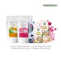 Bundling 3 Glowing Hero+ 1 MML+ Sakura Latte 250gr + Mango Latte 250gr
