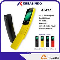 Aldo AL210 Candybar Hp Murah Model Pisang Banana Resmi