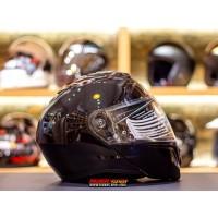 Helm HJC i90 Glossy Metal Black Modular Helmet