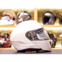 Helm HJC i90 Pearl White Modular Helmet