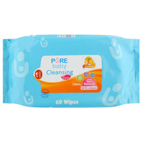 Pure Baby Wipes Hand and Mouth 60s Cleansing Tissue 60 Pure BB PureBB
