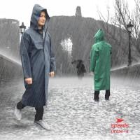 Jas Hujan Poncho Lengan Rok Plastic PVC Motorcycle Waterproof 036-05 - Kuning