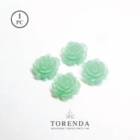 Torenda Jewelry Rose Acrilyc Big Hijau (col.30) - Bunga Rose / PCS