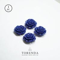 Torenda Jewerly Rose Acrylic Big Biru (col.37) - Bunga Rose /PCS