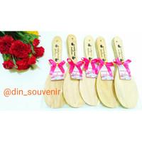 Souvenir Pernikahan Centong Nasi Kayu Sablon Nama