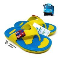 Sandal Anak Tahan Air Model Bus Yellow - Sendal Anak Lucu Berkarakter