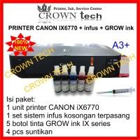 Canon iX6770 printer A3 + Modifikasi+ tinta botolan GROW INK