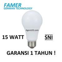 FAMER Lampu LED 15W Bohlam 15 w watt Putih Bulb 14 12 white GARANSI