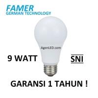 FAMER Lampu LED 9W Bohlam 9 w watt Putih Bulb 9watt 10 white GARANSI