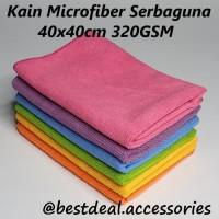 Kain Microfiber 40x40 Handuk Kecil Lap Meja Mobil Serbaguna 320GSM