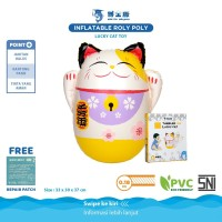 DOCTOR DOLPHIN Inflatable Roly Poly Lucky Cat Toys / Mainan Tinju Anak