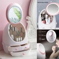 LED Rak Kosmetik Kotak Makeup Storage Organizer Beauty Case