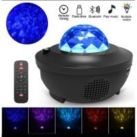Proyektor Lampu Tidur Langit Bintang Bluetooth + Remote + Auto Off