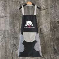 Celemek Masak Dapur Apron Beruang BEAR kain nilon anti air lap tangan