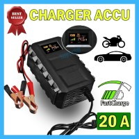 Alat Cas Aki 12V 10A / 20A Charger Accu Motor Mobil Casan 10-20 Ampere - Kuning 6A