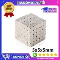 Magnet Neodymium NdFeB N35 Super Kuat Kotak Persegi 5x5x5mm 1PCS