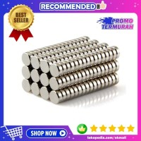 Magnet Neodymium NdFeB N50 Super Strong Kuat Model Bulat 5x5x2mm 1PCS