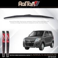 """Raiton Sepasang Wiper Hybrid Kaca Depan Mobil Karimun Wagon R 20""""&18"""""""