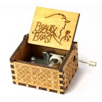 Wooden music box Disney Beauty and The beast