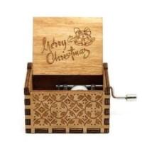 Wooden music box Merry Christmas